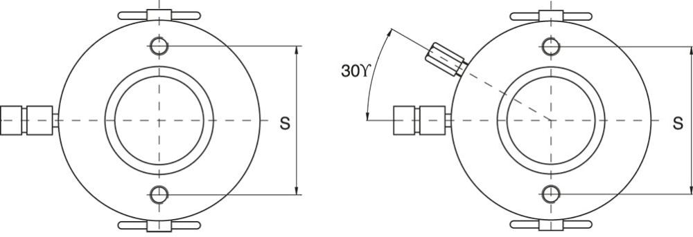 Plunger (Hollow) Cylinders, Single Acting Spring Return or Double Acting- Drawing