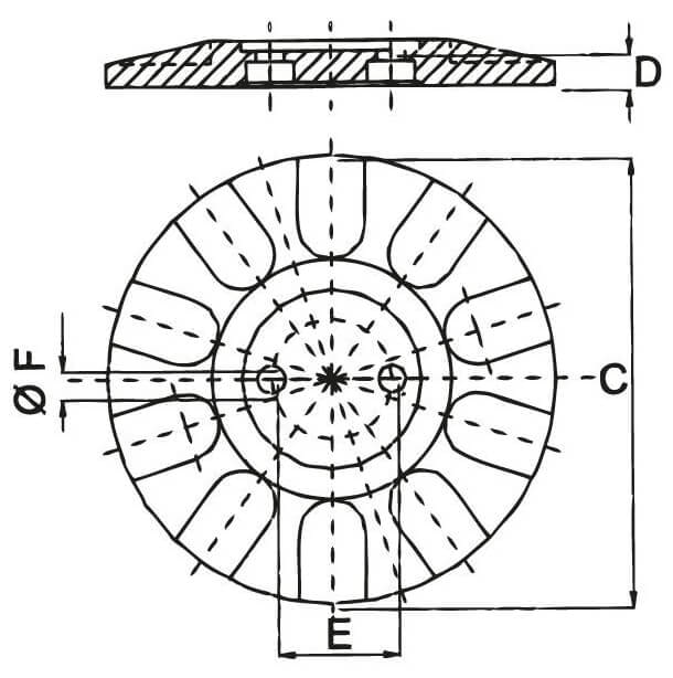 round-foot-drawing