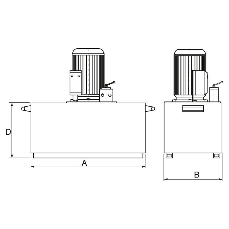 Motor Pumps, electrical - drawing